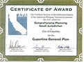 General Plan Award Certificate