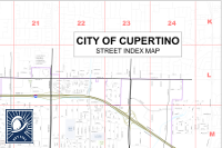 Cupertino Street Index Map image