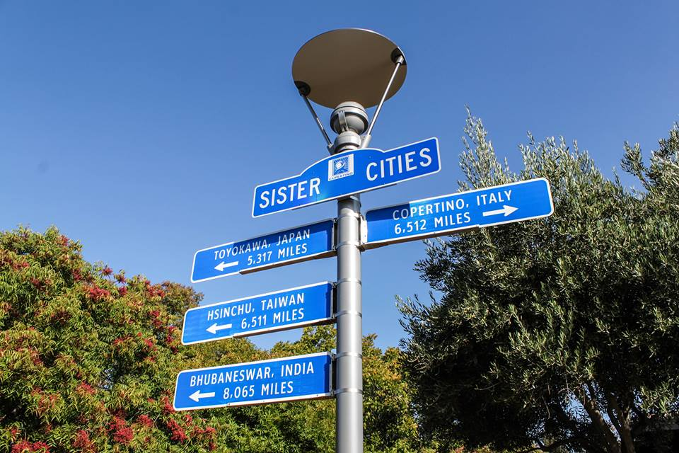 Cupertino Sister Cities Signs 14457408_10153963480599677_5596110688960980125_n