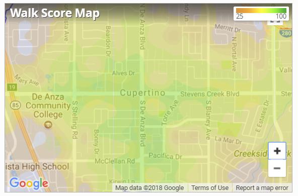 walk score map