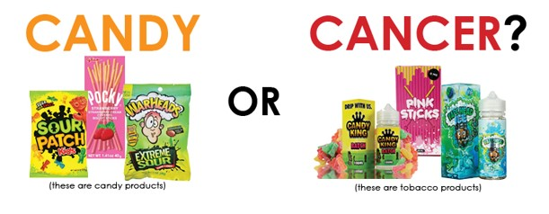 candy or cancer image horizontal
