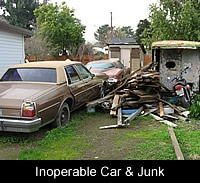 Inoperable Car and Junk