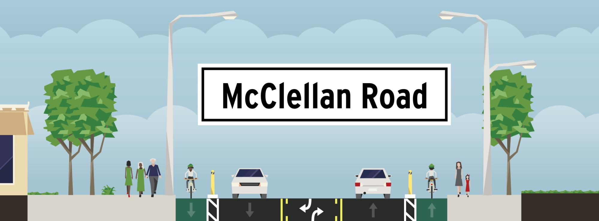 McClellan Road Separated Bike Lanes Project   City of ... on