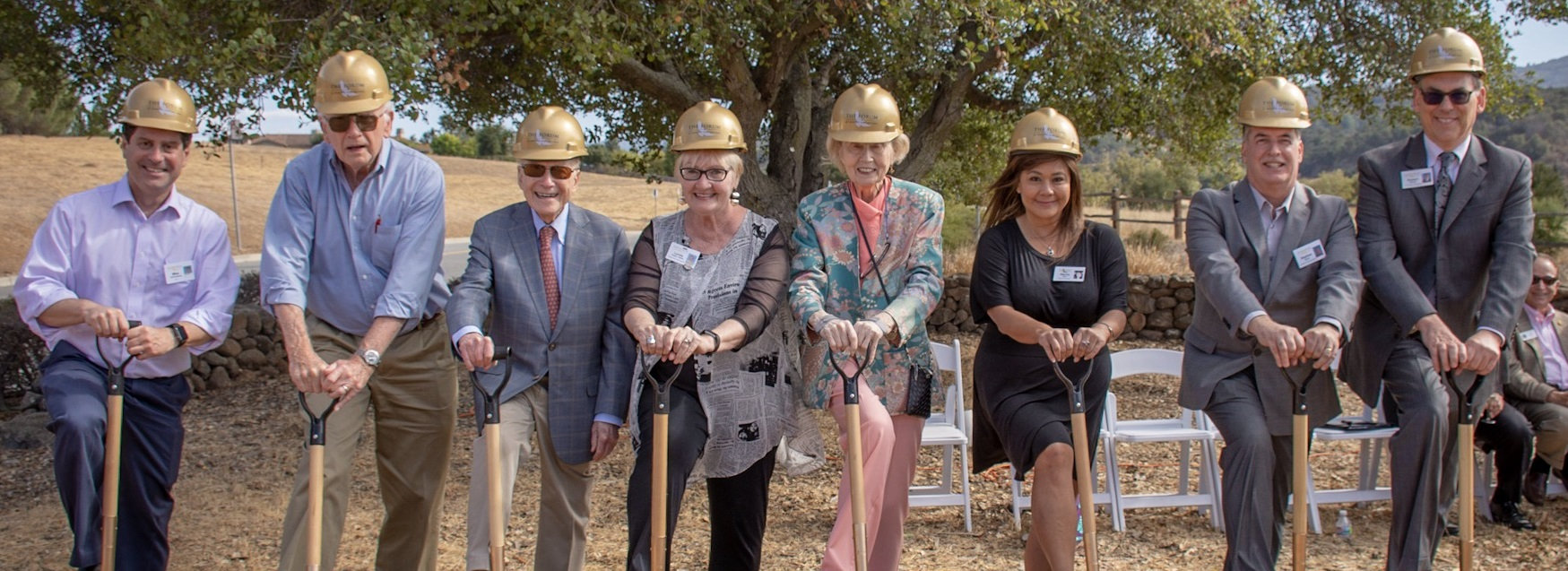Mary elizabeth and crew groundbreaking